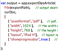 Code Snippet ExportDPSArticle