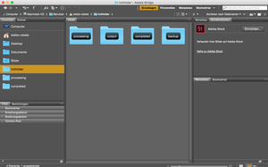 Auswahl HotFolder in Adobe Bridge CC